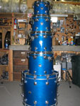 DW Maple: Royal Blue Lacquer