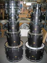 Slingerland: Black Satin Oil