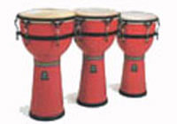 Rasberry Burst Djembe